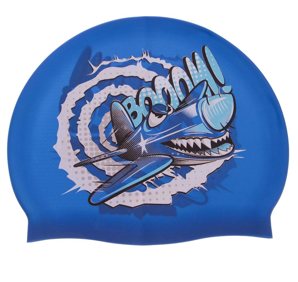 Шапочка для плавания детская madwave crazy fly 057807000: силикон (голубой цвет) фото №1