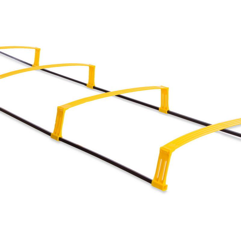 Координационная лестница дорожка с барьерами 4892: 6 перекладин (длина 215см) фото №1