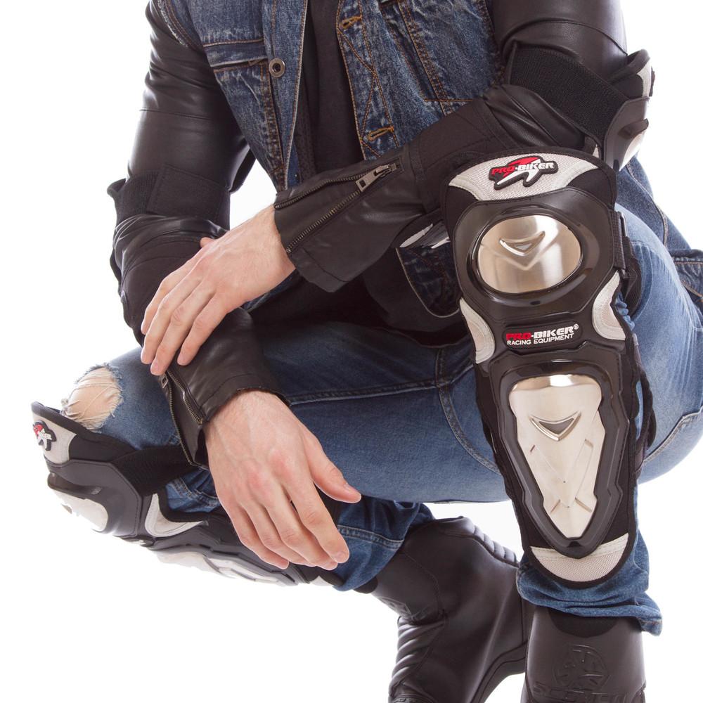 Комплект мотозащиты pro biker 1234: колени/голень + предплечье/локоть (pvc, металл) фото №1