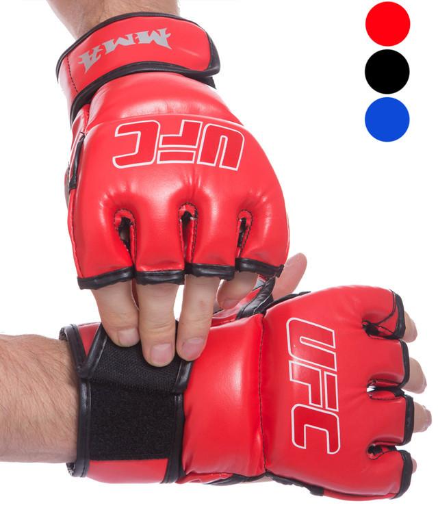 Перчатки для смешанных единоборств мма 0397: размер xs-2xl (3 цвета) фото №1