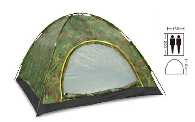 Палатка самораскладывающаяся двухместная туристическая sy-a-34-hg: размер 2х1,5х1,1м фото №1