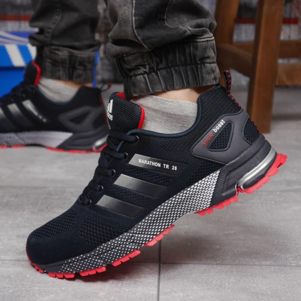 ►18532 кроссовки мужские adidas marathon, синие фото №1