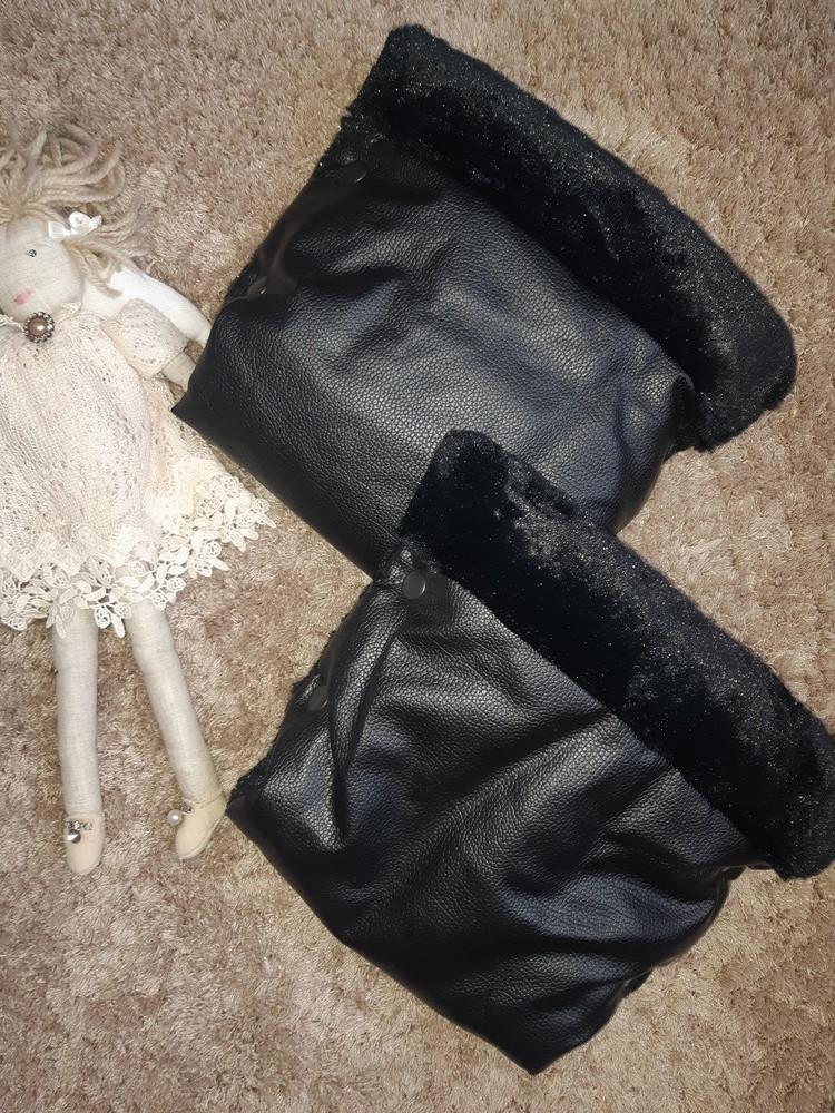 Муфты-рукавички на коляску из экокожи фото №1