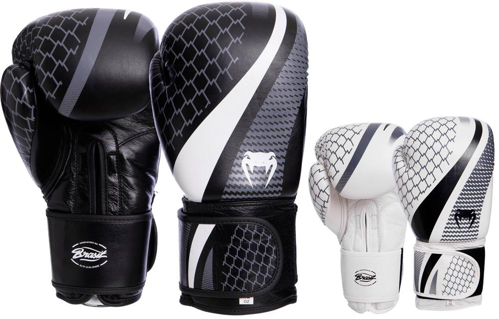 Перчатки боксерские кожаные на липучке venum contender 2034: 10-14 унций (2 цвета) фото №1