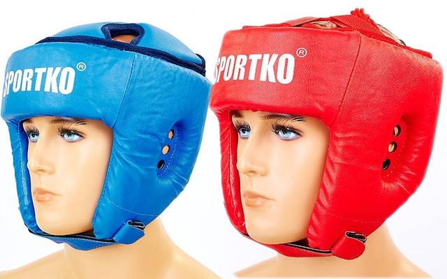 Шлем боксерский открытый sportko od1 (шлем для бокса): 2 цвета, размер l фото №1