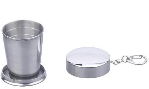 Складной-раздвижной стакан из нержавеющей стали pm-9 50мл фото №1