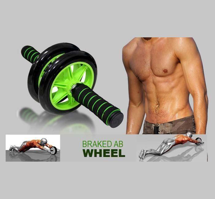 Гимнастическое спортивное фитнес колесо double wheel abs health abdomen round   тренажер-ролик для м фото №1