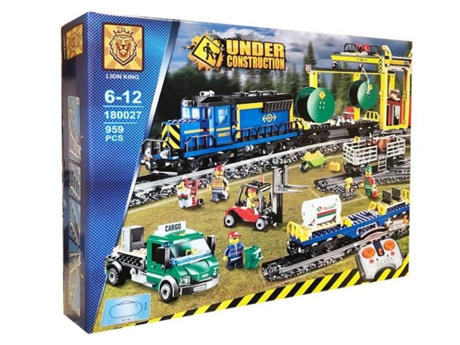 Конструктор грузовой поезд на радиоуправлении фото №1