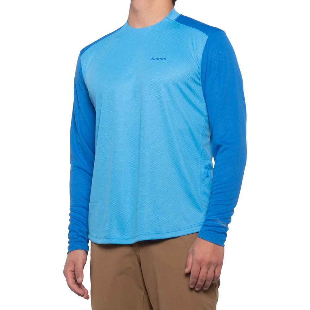 Мужская футболка с длинным рукавом simms solarflex shirt upf 50 long sleeve фото №1