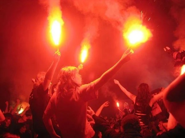 Фаєр, кольоровий вогонь, факел, фальшфейер, червоний, 100 сек фото №1