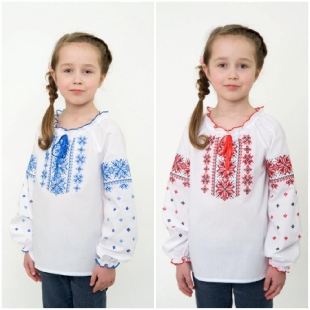Бюджетная вышиванка для девочки. бюджетна вишиванка фото №1