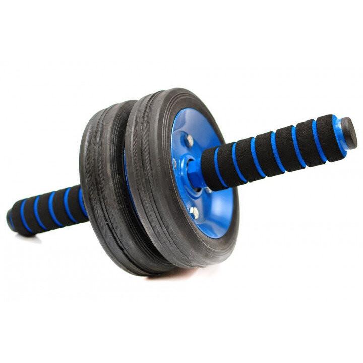 Тренажер ролик колесо для пресса energyfit с неопреновыми ручками фото №1