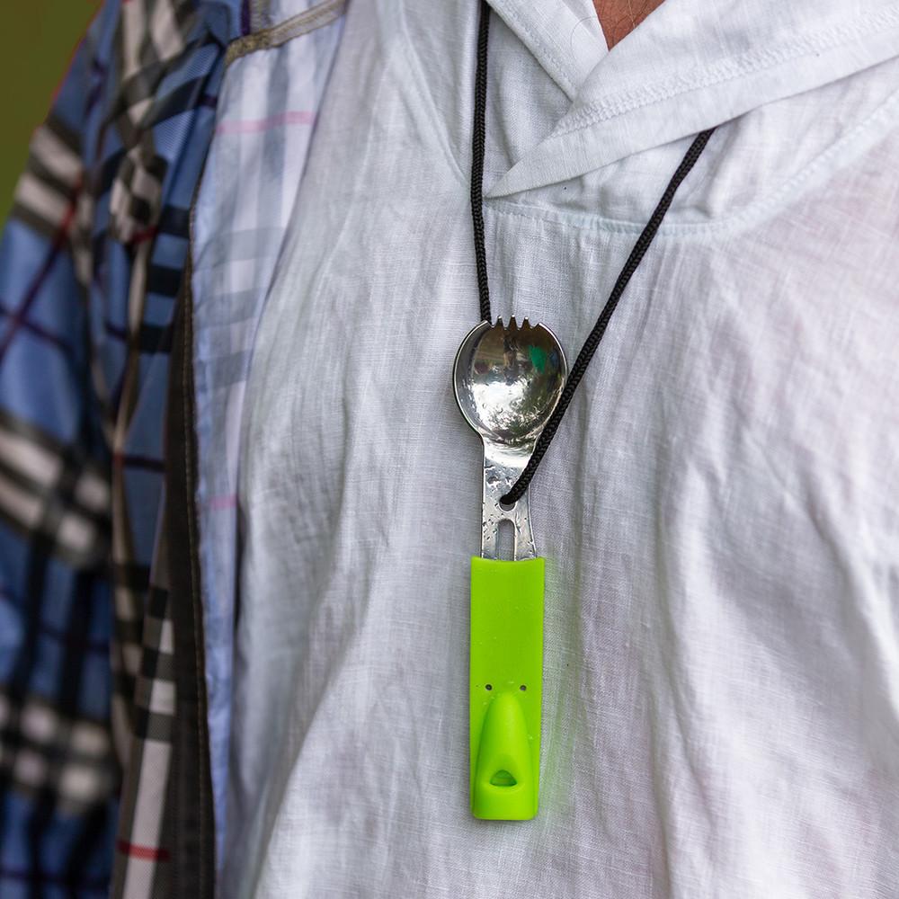 Походный нож-ложка-вилка туриста (5 функций!) 4 цвета.акция на 2 и 3 шт! фото №1