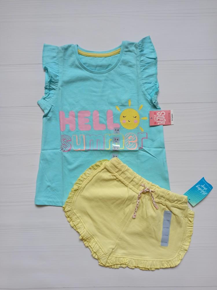 Новый летний костюм, шорты и футболка matalan 98-104, 104-110, 110-116 фото №1