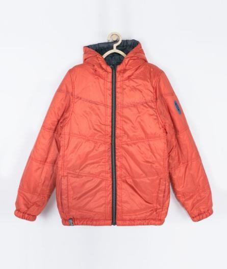 Куртка деми двухсторонняя coccodrillo оранж/серая фото №1