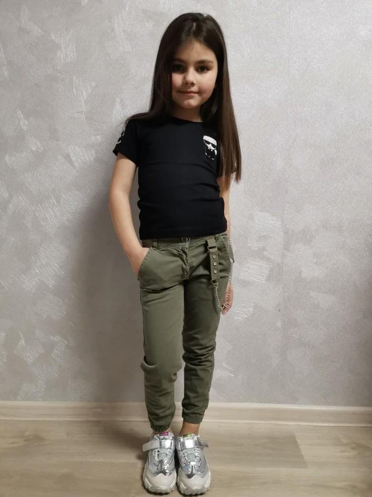 Джогеры для девочек 3-7 лет новое в наличии в размерах катон фото №1