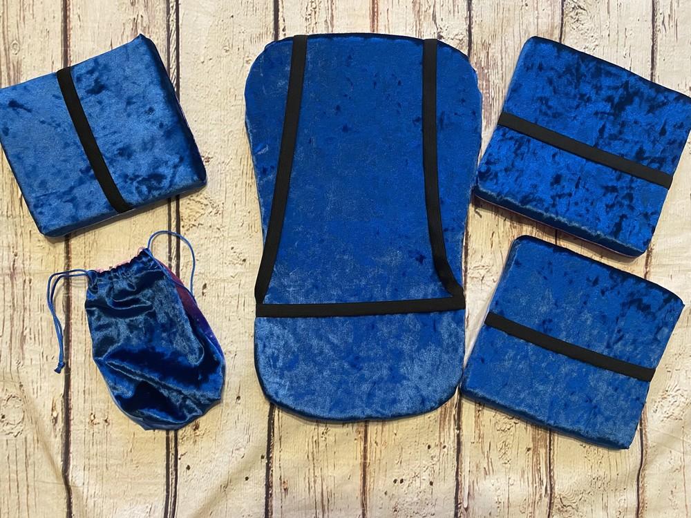 Набор для гимнастики 4 см толщиной, для акробатики, подушки для гимнастики с резинками фото №1