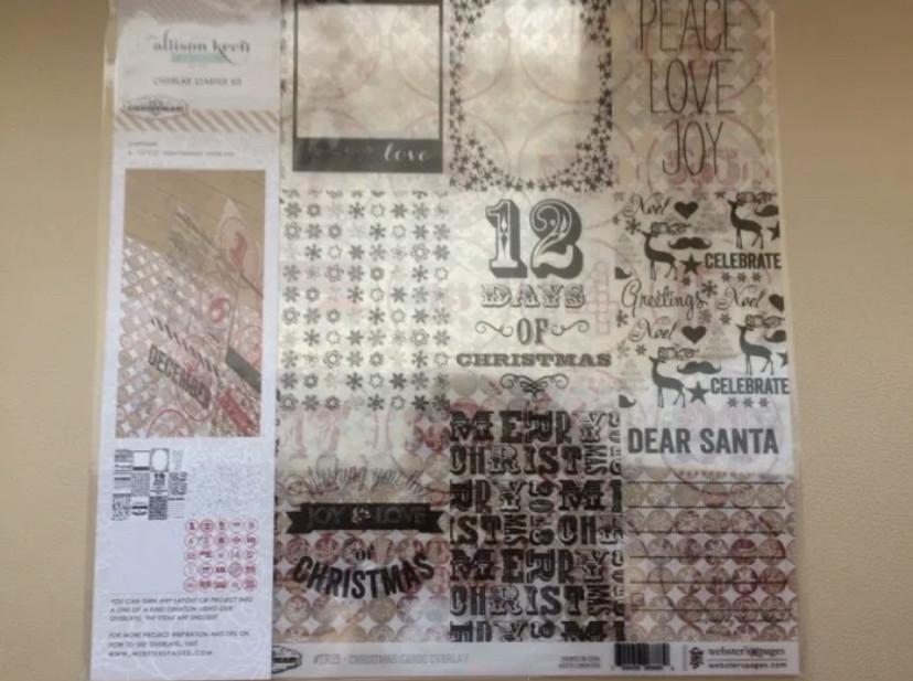 Веллум webster's pages it's christmas 30х30см, 4л. велум alison craft для скоапбукинга фото №1