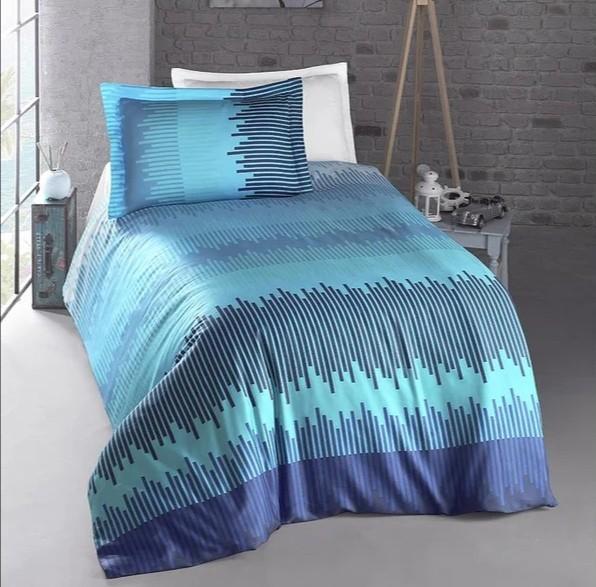 Постельное белье полуторное energy синий luoca patisca фото №1