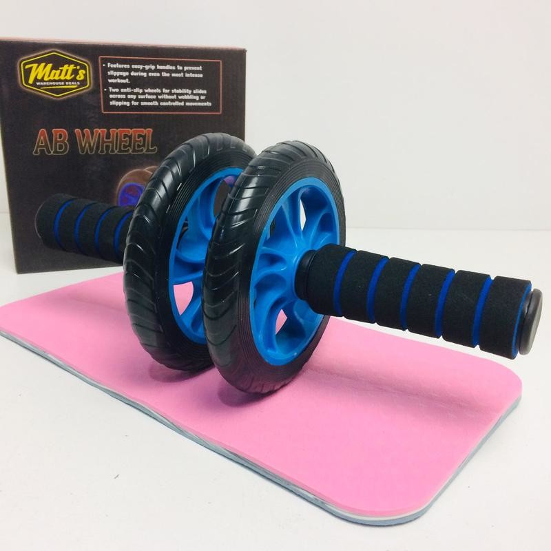 Колесо для пресса + коврик ab wheel aa 15 см. фото №1