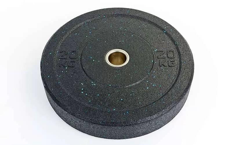Бамперные диски для кроссфита bumper plates та-5126-20 20кг фото №1