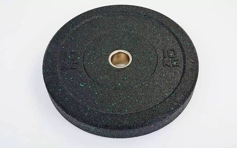 Бамперные диски для кроссфита bumper plates raggy та-5126-25 10кг фото №1