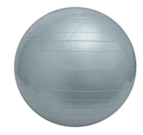 Мяч для фитнеса 55 см + насос гимнастический мяч фитбол серый фото №1