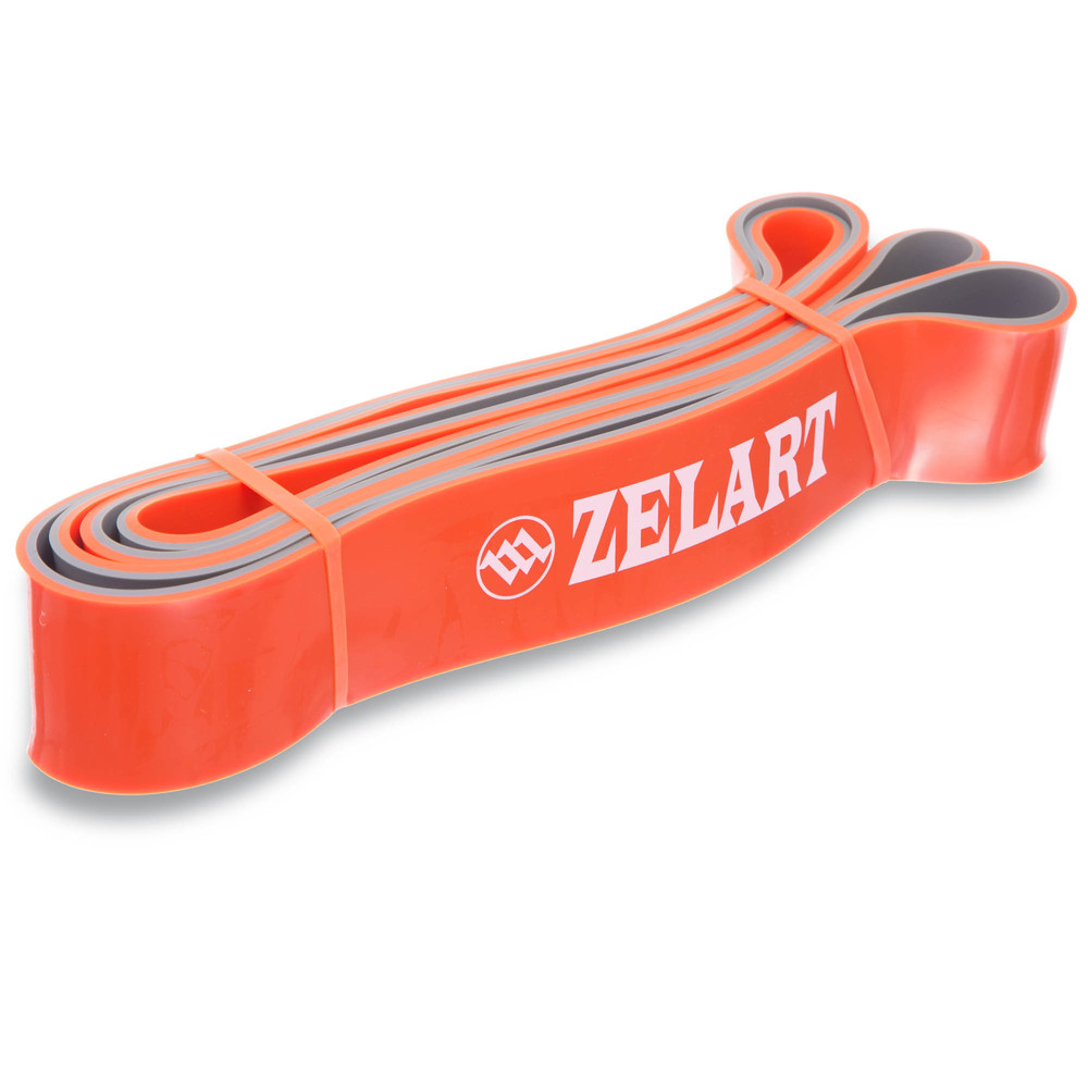 Резина для фитнеса dual power band 0911-7 (резина для подтягиваний): мощность l, 2080x45x4,5мм фото №1