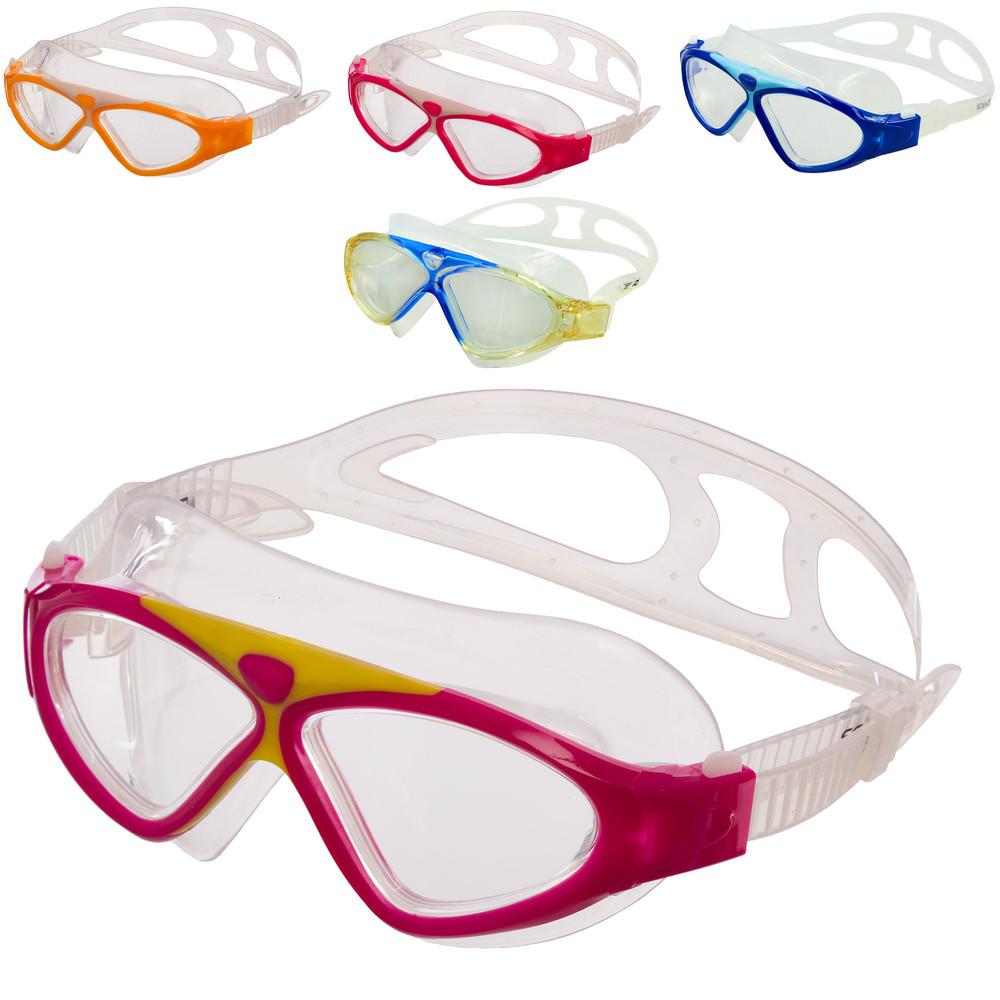 Очки-полумаска для плавания seals s7700: поликарбонат, силикон (5 цветов) фото №1