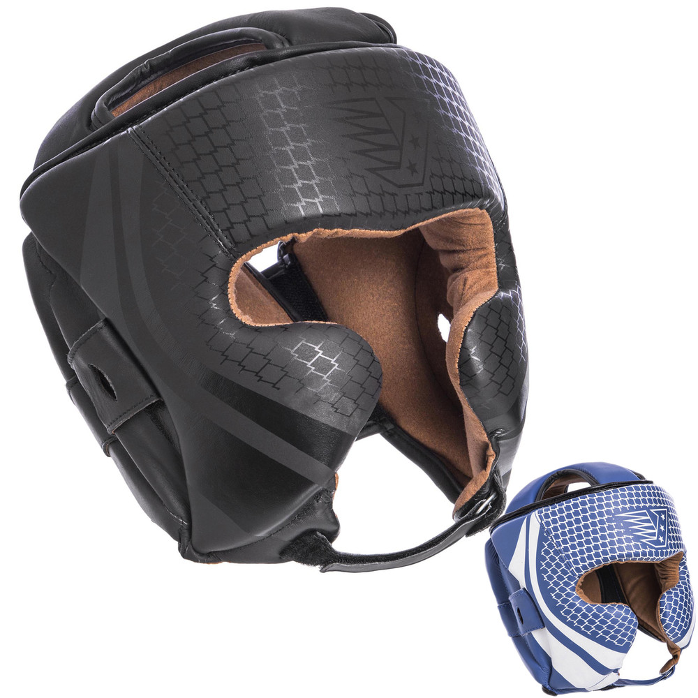 Шлем боксерский в мексиканском стиле кожаный velo 2225 (шлем для бокса): размер m-xl фото №1