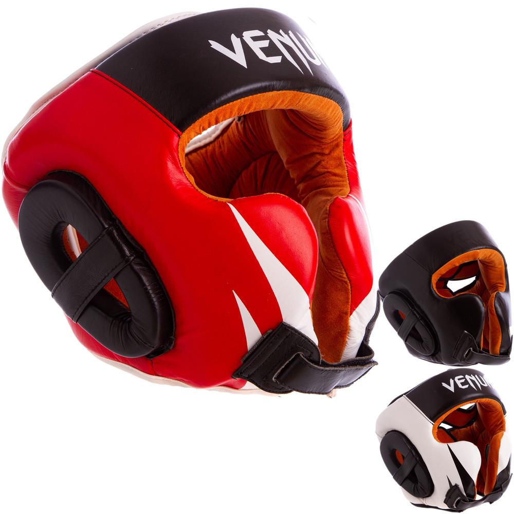 Шлем боксерский в мексиканском стиле кожаный venum giant 6652 (шлем для бокса): размер m-xl фото №1