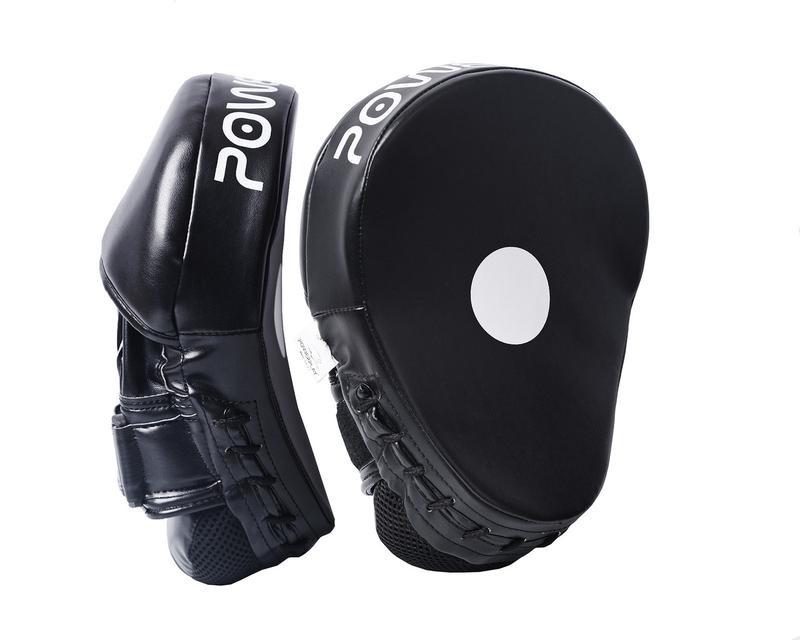 Лапи боксерські powerplay 3041 чорні pu [пара] фото №1
