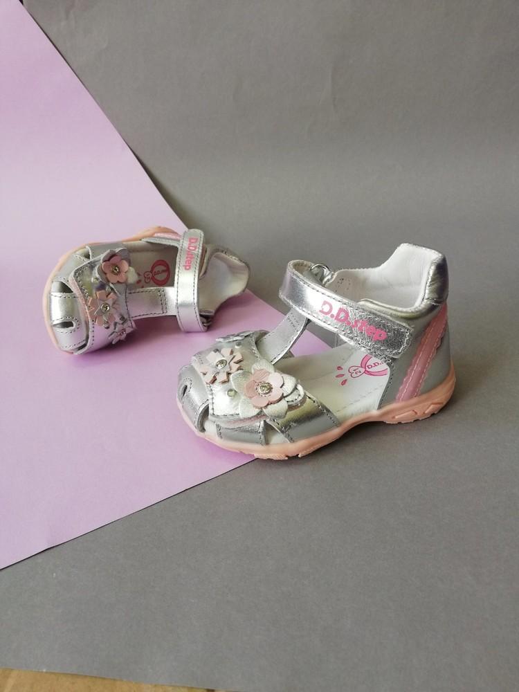 Кожаные сандалии для девочки с led подсветкой фото №1
