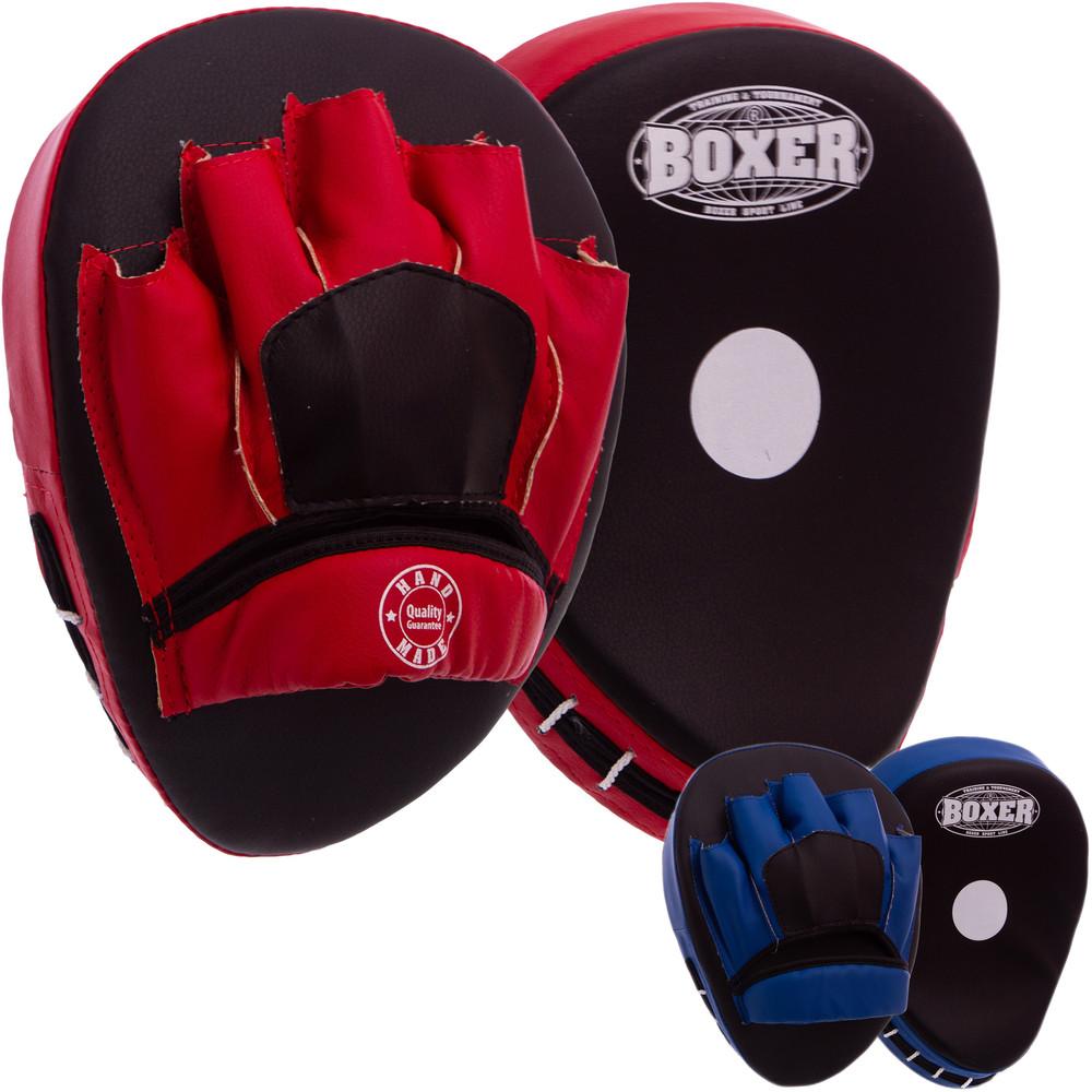 Лапа изогнутая боксерская boxer 2011-01: 2 лапы в комплекте (2 цвета) фото №1
