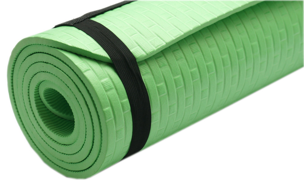 Йогамат eco friendly коврик для фитнеса йоги каремат 6 мм зеленый фото №1