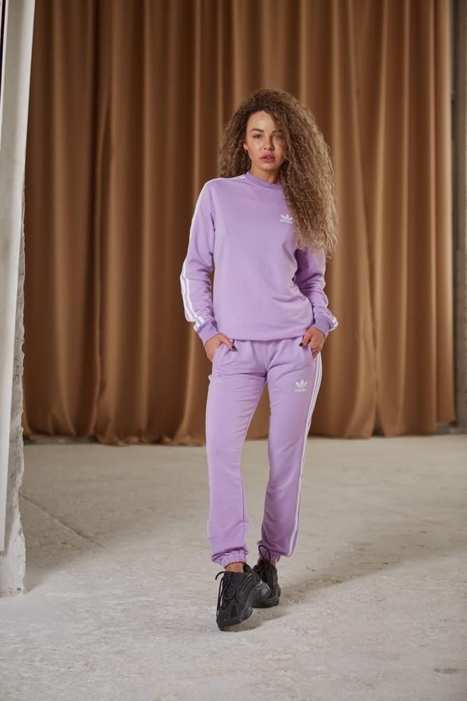 Женский спортивный костюм adidas: свитшот-штаны (2 пары носков в подарок) жіночій костюм фото №1