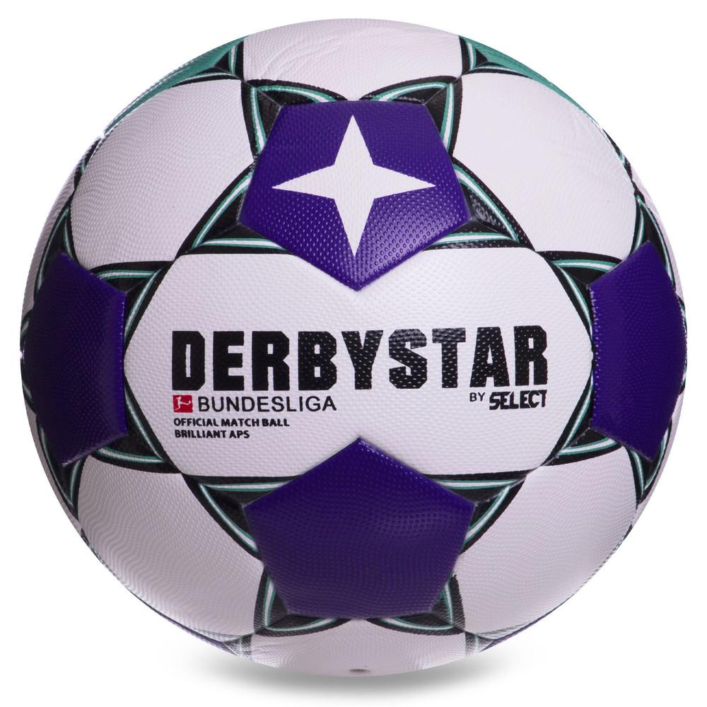 Мяч футбольный №5 derbystar super cup 2383: размер 5 (pvc, клееный) фото №1