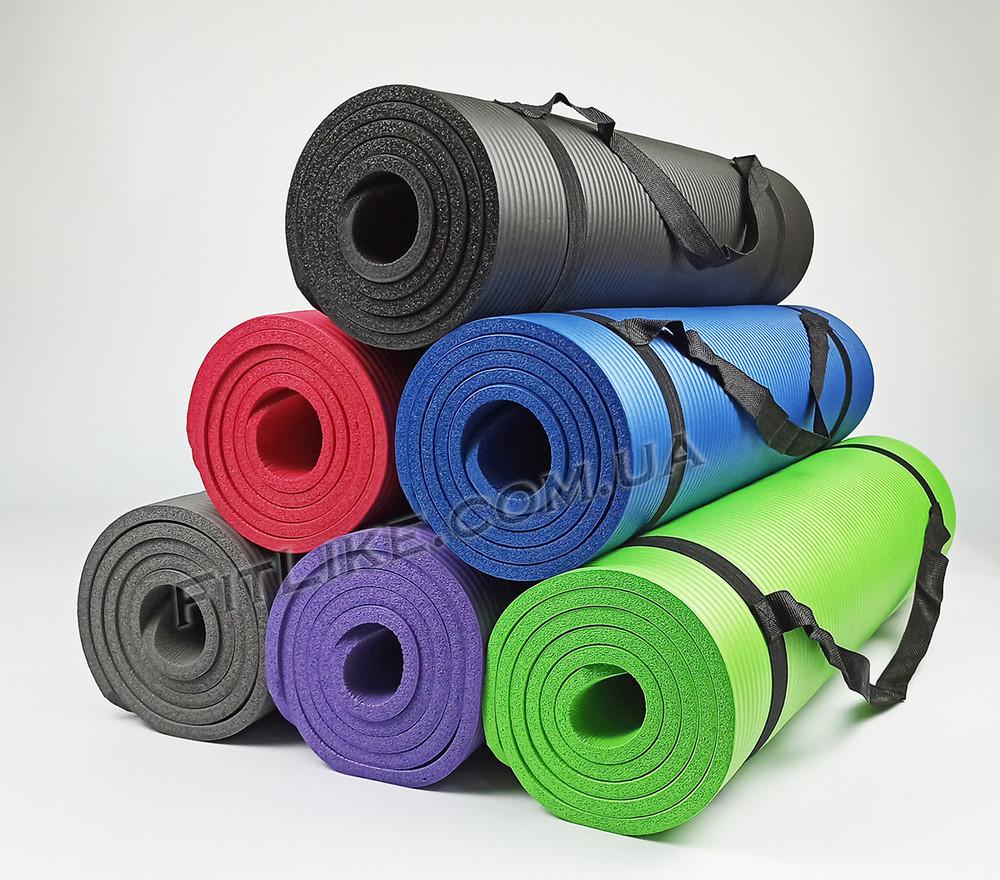 Коврик nbr 10мм для йоги и фитнеса pro серия, каремат для тренировок и туризма из вспененного каучук фото №1