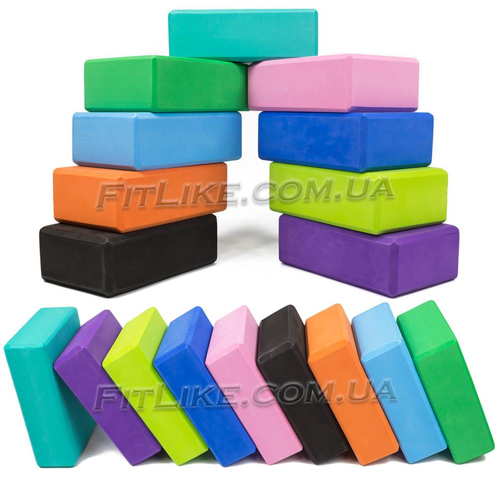 Йога блоки - кирпич для йоги, опорный блок для фитнеса, йога-блок, кубик eva йога блок для растяжки фото №1