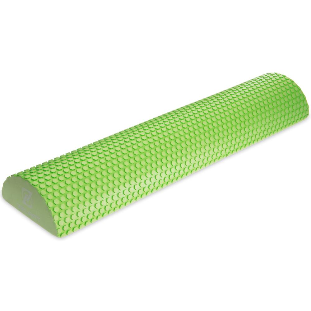 Роллер для занятий йогой массажный 2571 (полуцилиндр для йоги): длина 60см фото №1