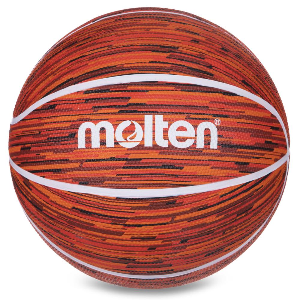 Мяч баскетбольный резиновый molten №7 b7f1600: размер №7 (orange-red) фото №1