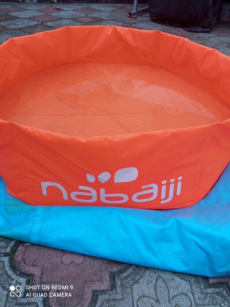 Детский мини бассейн nabaiji 60л ш65 х в19 см оранжевый фото №1