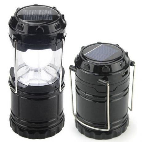 Кемпинговый фонарик c солнечной батареей фото №1