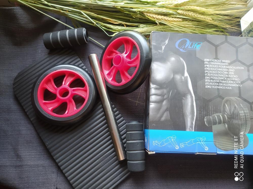 Ролик для пресса 2 колеса, колесо для фитнеса фото №1