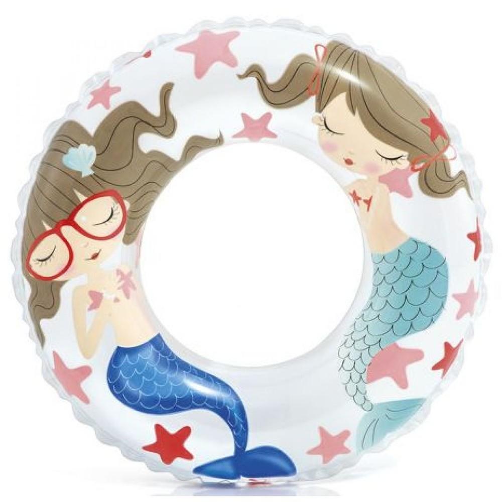 Круг надувной русалочки (61 см) intex, круг для плавания фото №1