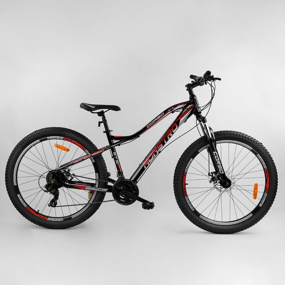 Велосипед горный спортивный corso monstro 27.5 дюймов облегчённый фото №1