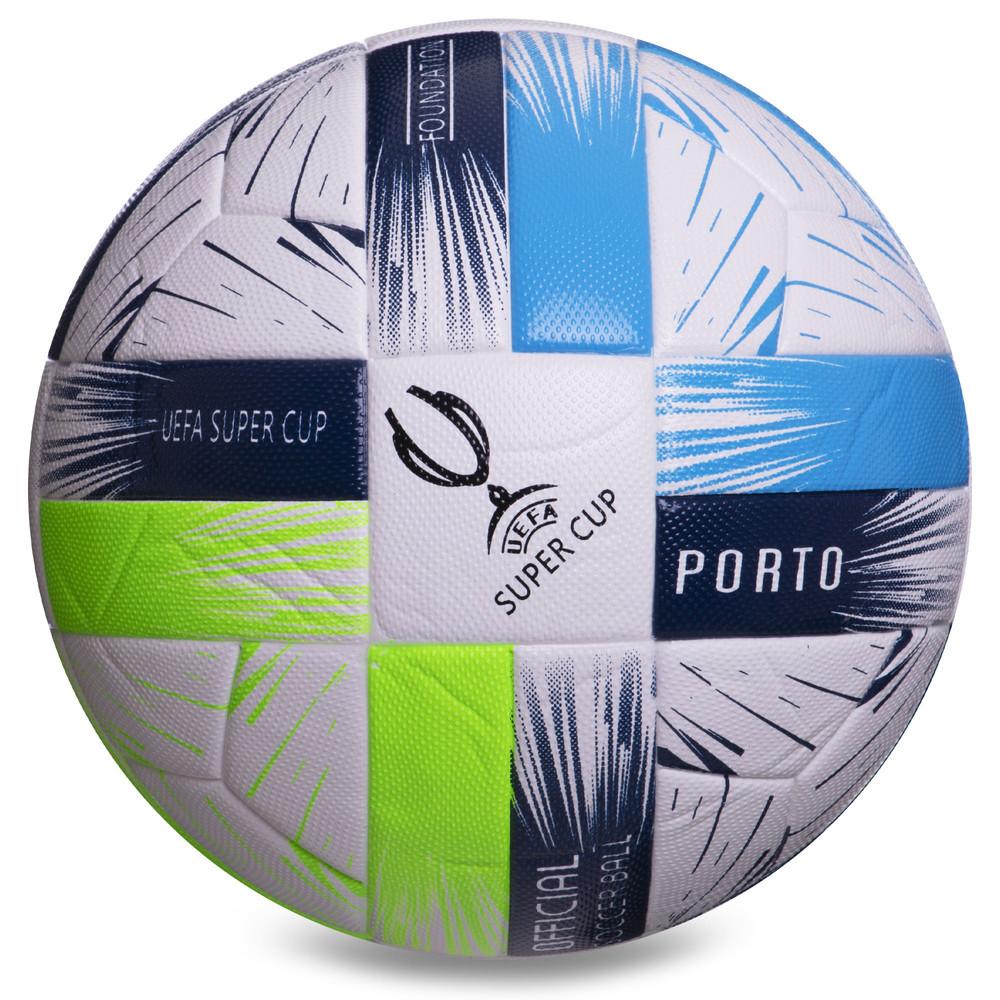 Мяч футбольный №5 uefa super cup 2381: размер 5 (pvc, клееный) фото №1