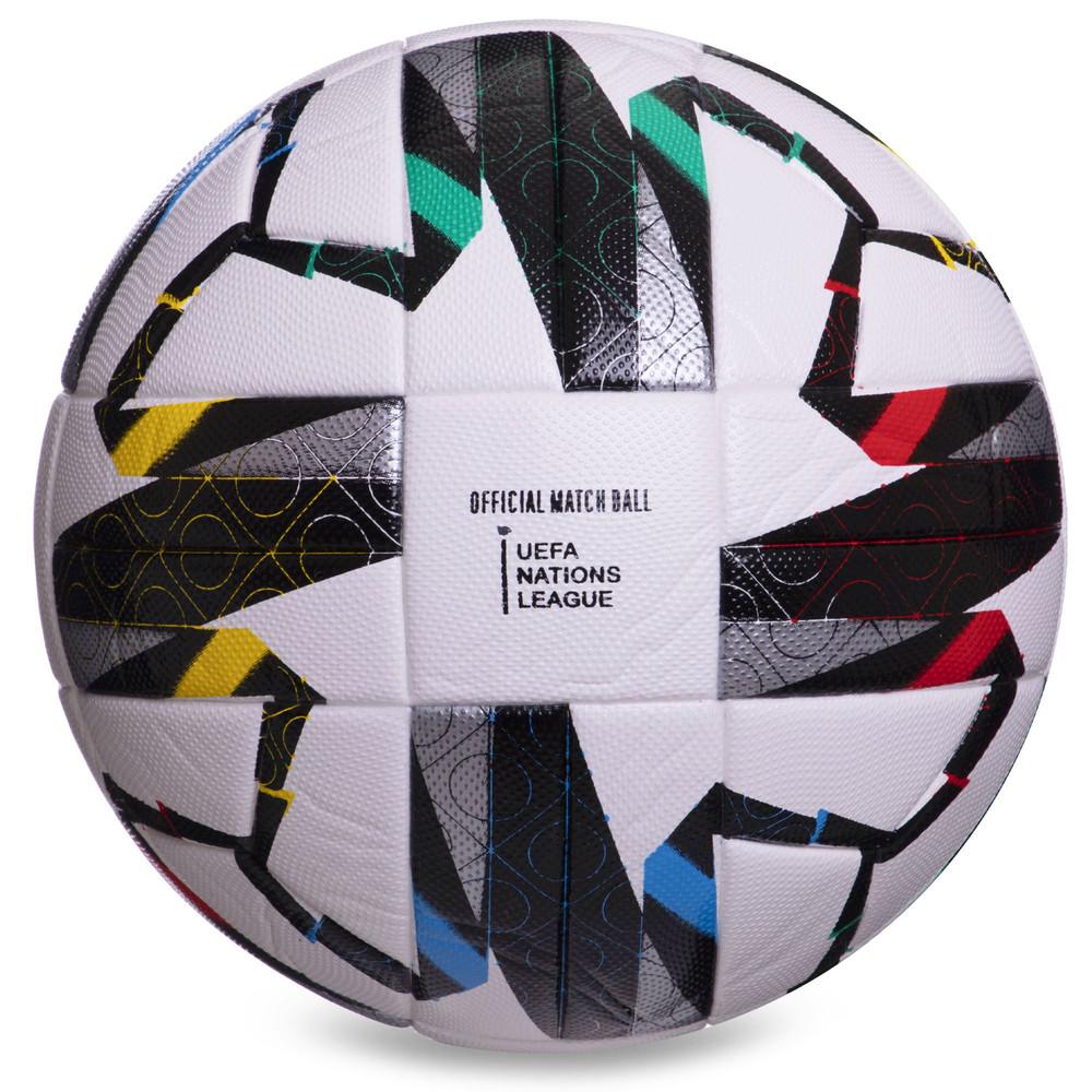 Мяч футбольный №5 uefa super cup 2382: размер 5 (pvc, клееный) фото №1