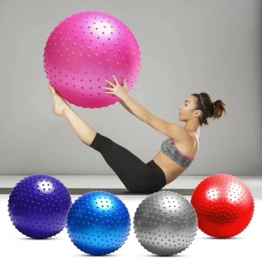 Мяч фитбол для фитнеса с шипами 55 см 65 см фото №1