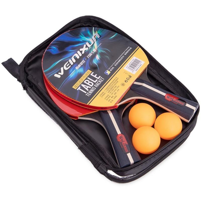 Набор для настольного тенниса weinixun 2103: 2 ракетки + 3 мяча фото №1